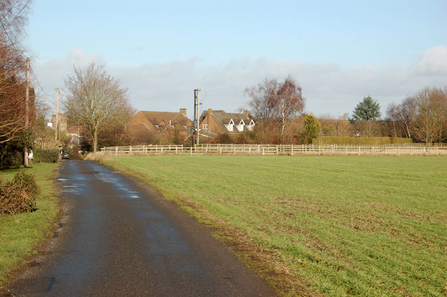 Looking to Marton on the track from Marton Fields Farm
