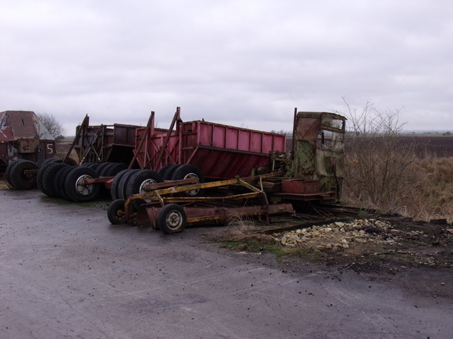 Disused Peat Extraction Machinery