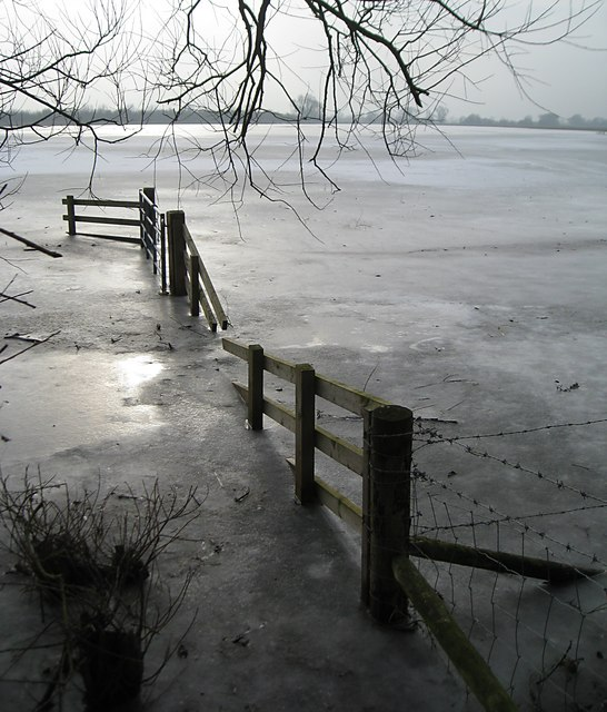 Submerged fence at Bury Fen