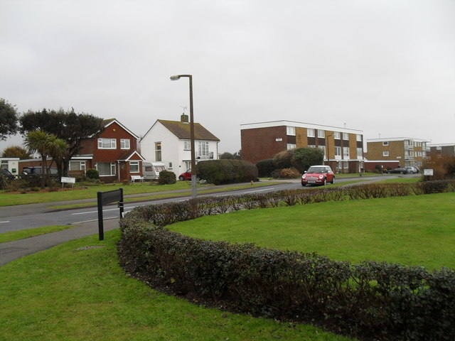Looking from Sea lane into Overstrand Avenue