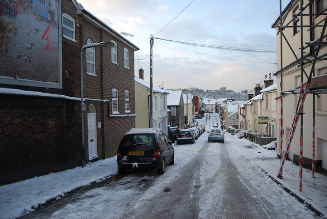 Icy conditions on Kirkdale Rd