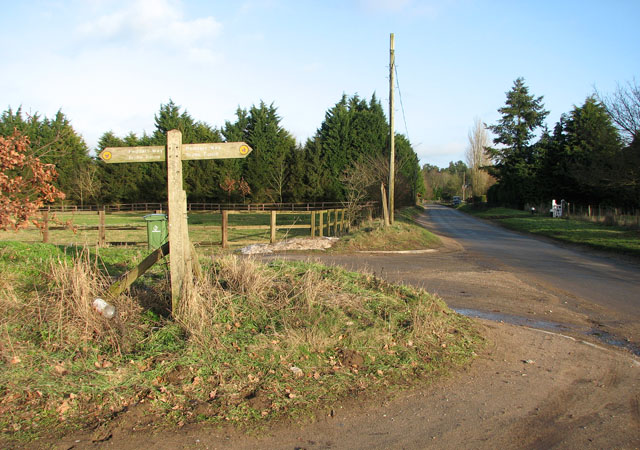 Fingerposts marking the Peddars Way Bridle Route