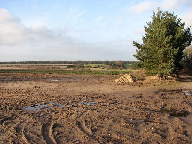View across fields towards Warren Farm