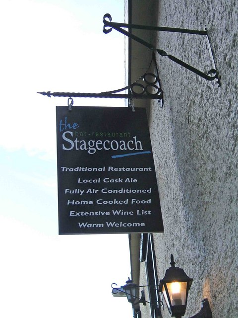 The Stagecoach sign, 45 West Street