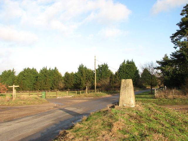 Triangulation pillar beside Beechamwell Road