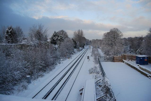 Railway line from Grosvenor  Bridge
