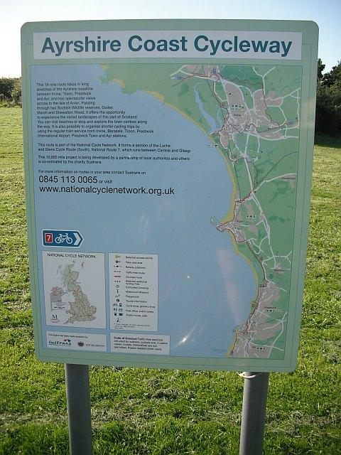 Ayrshire Coast Cycleway sign