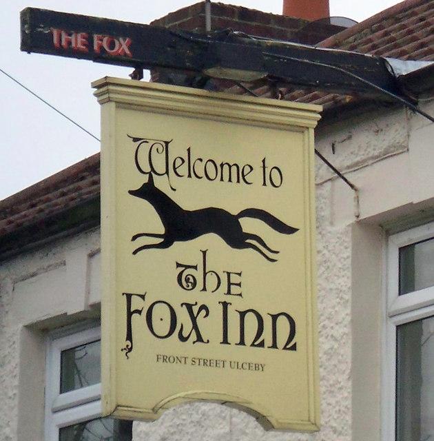 Sign of the Fox Inn, Ulceby