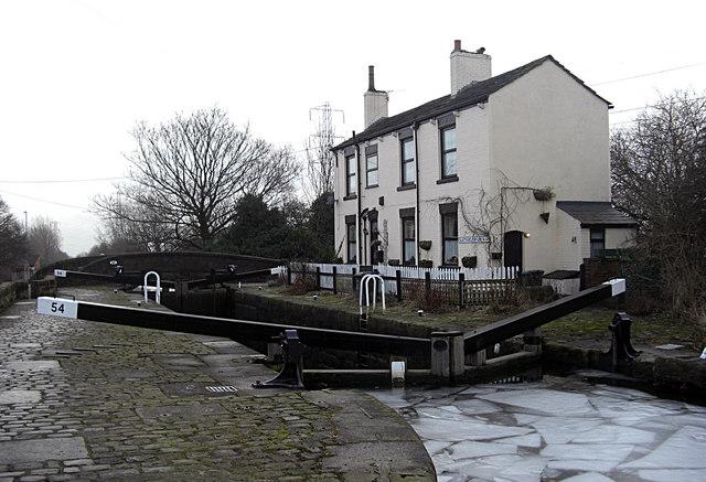 Slattocks Lock No 54 Rochdale Canal
