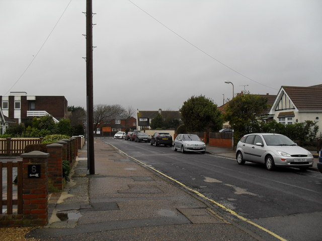 Looking along Seafield Road towards Sea Lane