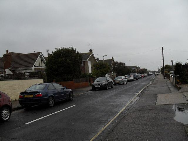 Looking eastwards along Seafield Road