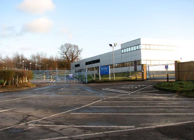 Entrance to Syfer Technology Ltd, Old Stoke Road