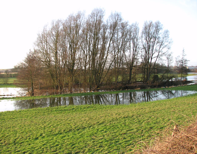 Flooded pasture beside Stoke Road