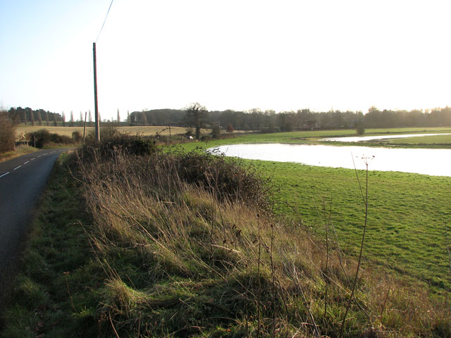 Flood meadow beside Stoke Road