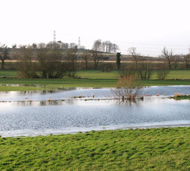 Flooded meadow beside Stoke Road