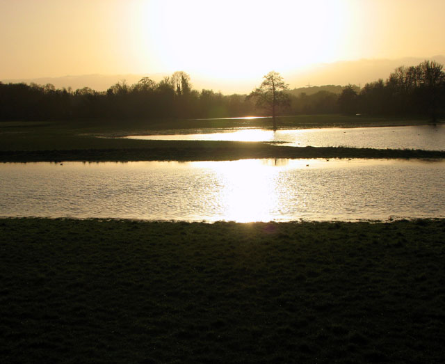 A flooded Tas valley north of Caistor St Edmund