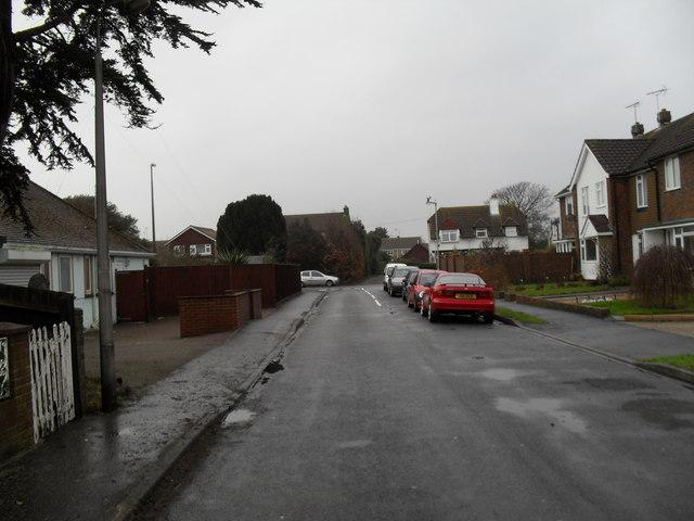 Looking westwards along Shaftesbury Road towards Sea Lane
