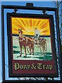 ST5861 : Sign for the Pony and Trap by Maigheach-gheal