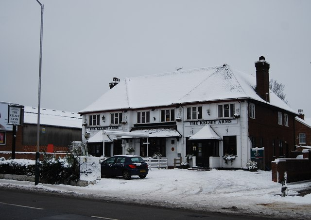 A snow covered Kelsey Arms