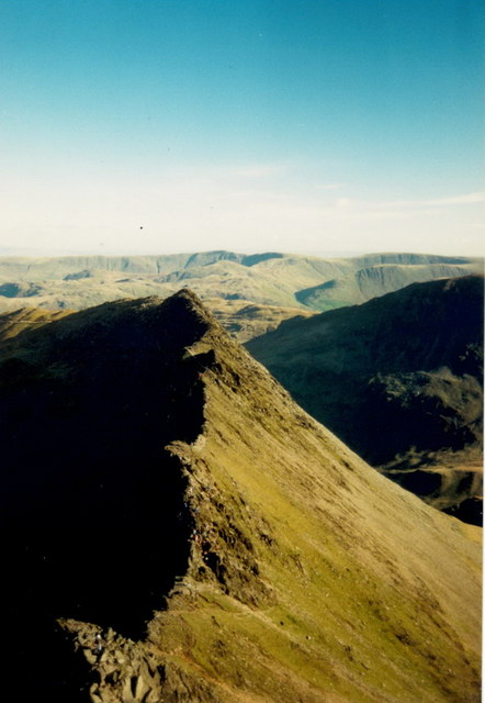 Striding Edge from Hellvellyn end