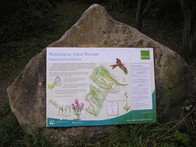 Natural England: Aston Rowant Nature Reserve Information Board
