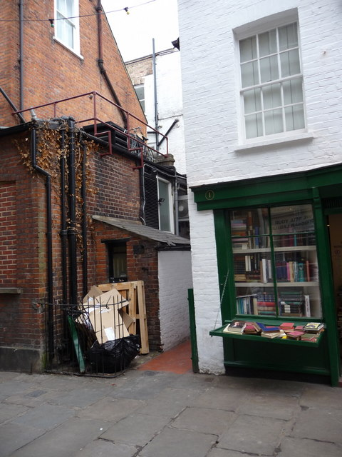 Old Shops in Flask Walk, London NW3
