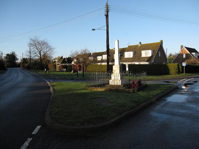 War memorial, Worlington