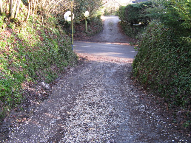 West Chilington Road dividing footpath to Abingworth