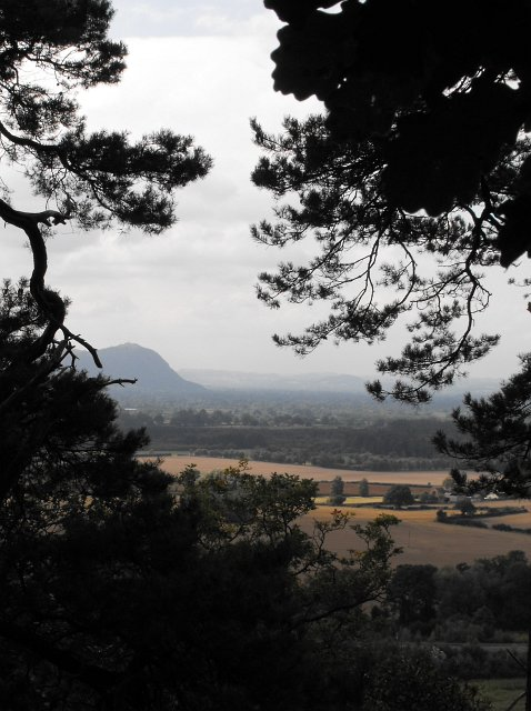 View WSW from Nesscliffe Hill