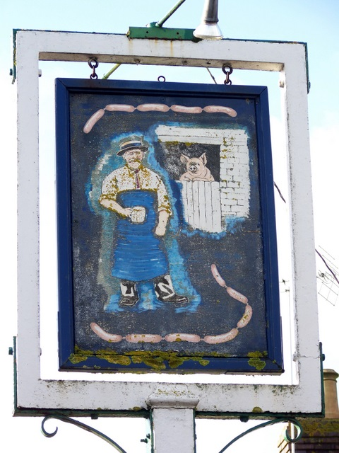 Sign for the Butchers Arms