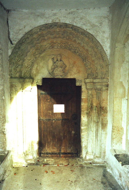 Church door and portal, All Saint's, Kirtling, Cambs.