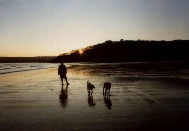 Wiseman's Bridge Beach at Sunset