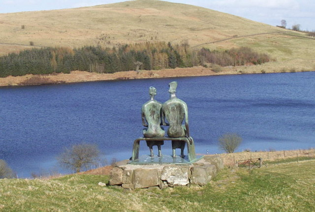 """King and Queen"" by Henry Moore at Glenkiln Reservoir"
