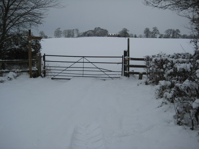 Gate on Ryall Court Road