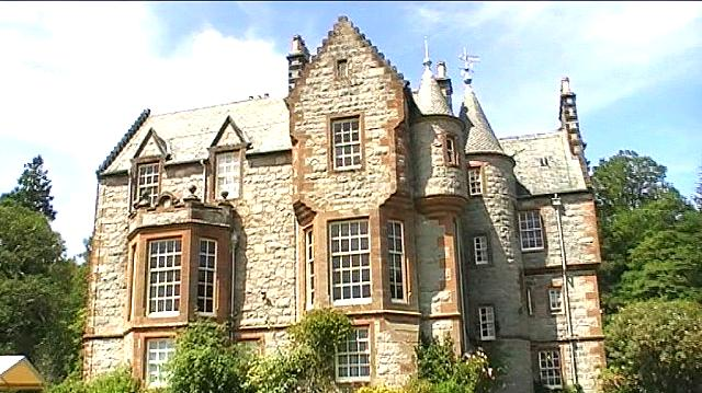 Rear elevation.. Shambellie House near New Abbey