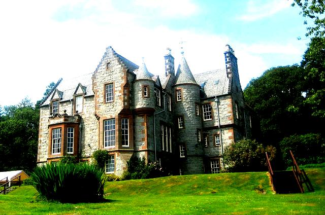 Rear elevation.. Shambellie House from Croquet lawn (mallets etc available from house)