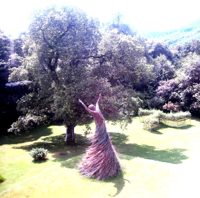 Shambellie House.. wicker lady viewed from first flloor