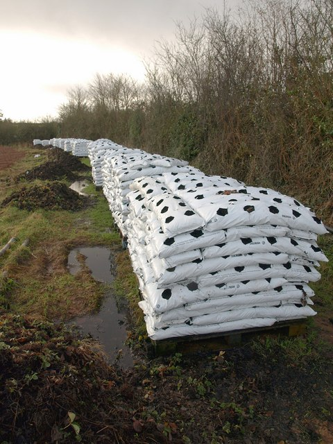 Bags of compost near North Petherton