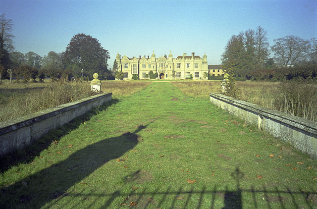 Hengrave Hall, from the moat