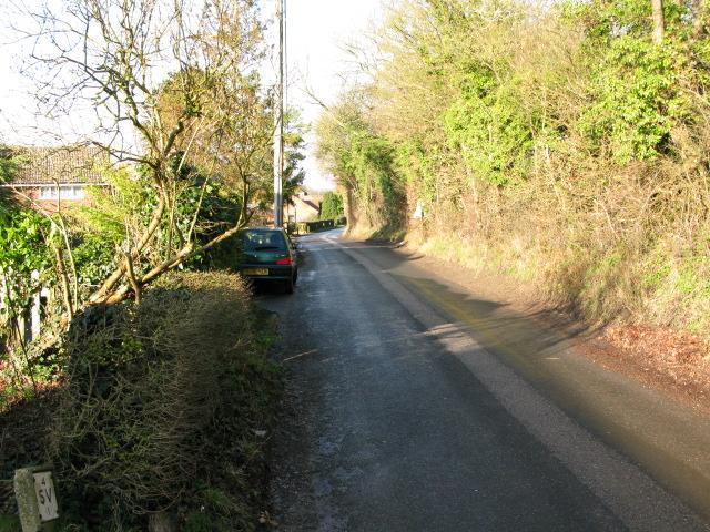 Bank Road, leaving Aldington