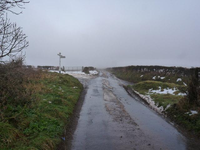 A cross roads on Beara Down