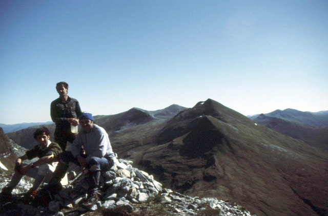 Summit cairn on Sgùrr a' Bhuic
