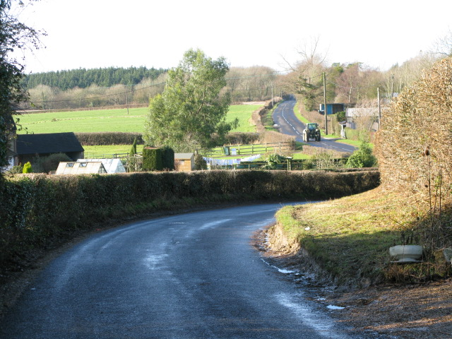 Looking W along Frith Road