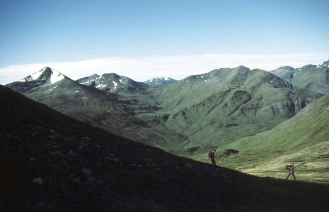 Descending from Sgùrr Choinnich Beag