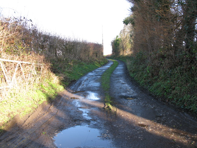 Track and footpath off Bank Road