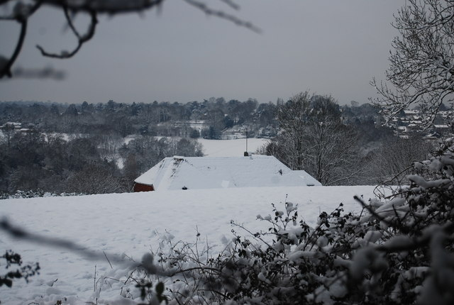 View to Southlands Farm from Speldhurst Rd