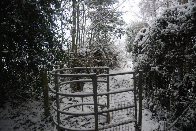 Kissing gate by the Tunbridge Wells Circular Path