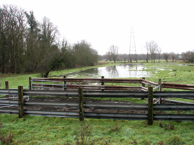 Flooded pasture in Trowse