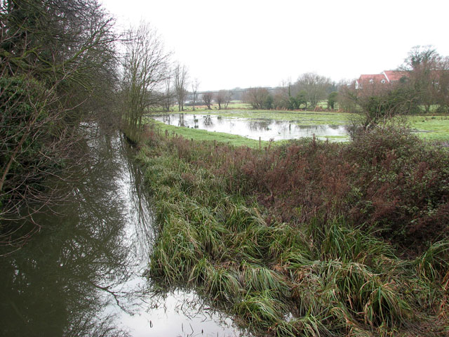 Flooded pasture south of Bracondale