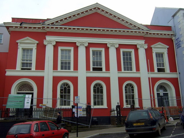 Shire Hall in Regency red
